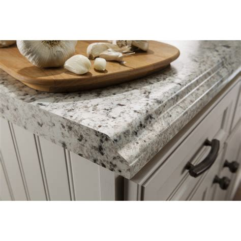 Lowes Kitchen Countertops Laminate Shop Belanger Laminate Countertops Formica 6 Ft Ouro Romano With Etchings Laminate