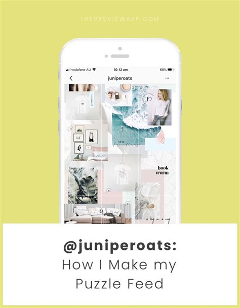 5 Steps To Make A Beautiful Puzzle Instagram Grid Feed Free Template Instagram Feed Template