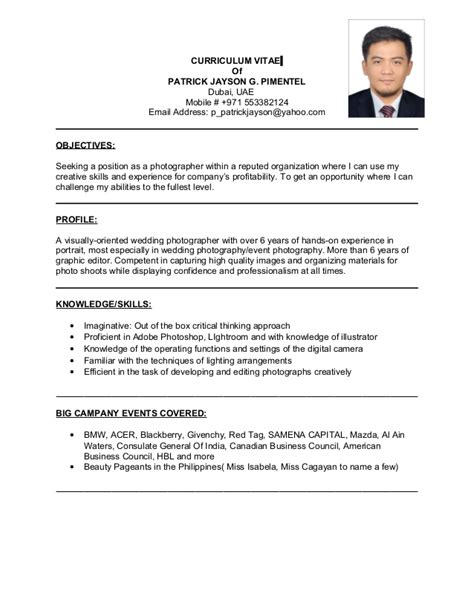 perfect wedding photographer job description resume model