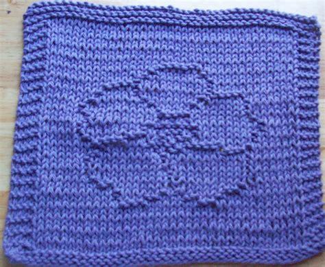 knitted dishcloth patterns digknitty designs pansy knit dishcloth pattern