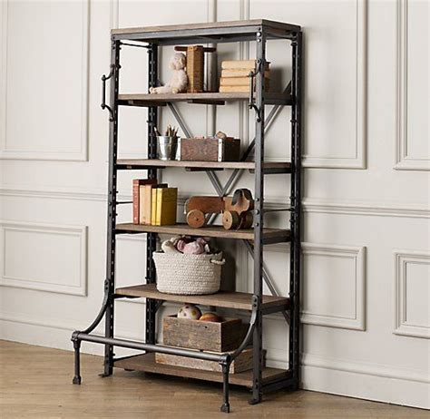 library bookcase wall unit restoration hardware library shelving bookcases storage
