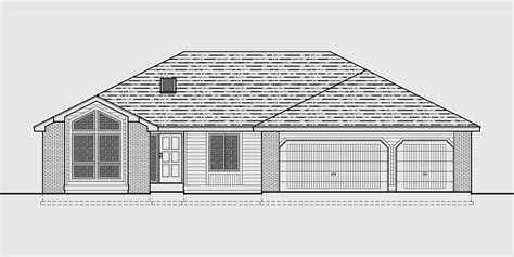 Ranch House Plans With Basement 3 Car Garage by Sprawling Ranch House Plans House Plans With Basement