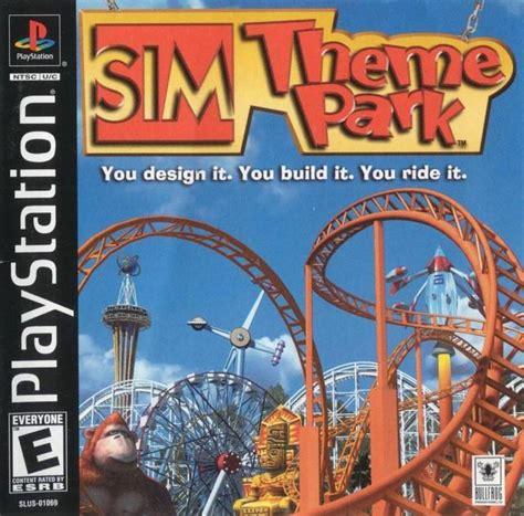 sim theme park xbox 360 sim theme park box shot for playstation gamefaqs