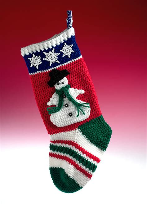 free pattern for christmas stocking crochet free snowman crochet pattern easy crochet patterns