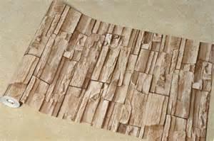 Stacked Brick/Stone Wallpaper Brown/Grey/Beige Vinyl Wallpaper   eBay