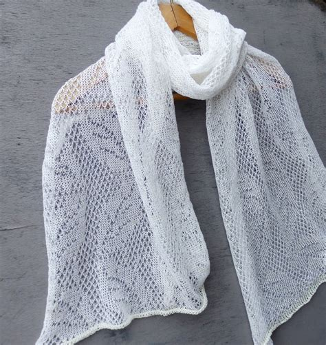 knitted white scarf shawl knit linen scarf knitted white lace shawl knitting