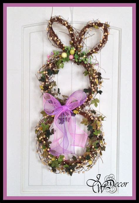 easter wreath bunny wreath easter wreath door wreath wreaths spring