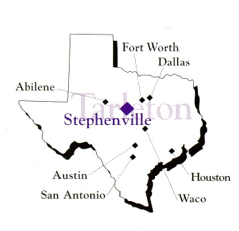 map of stephenville texas stephenville texas tarleton state university