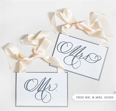 8 best images of free wedding printable sign templates