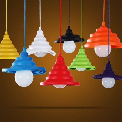 colorful pendant lights free shipping e27 colorful silicone l holder high