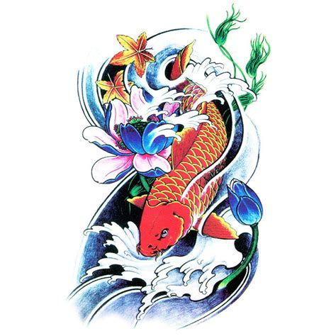 temporary tattoo koi carp koi carp colour 1 artwear tattoo