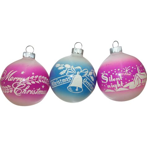 best 28 pink and blue christmas ornaments glittered