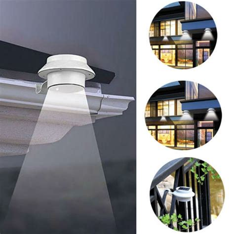 Outdoor Solar Path Lights 3led Outdoor Solar Powered Led Wall Path Landscape Mount Garden Fence Light L Ebay