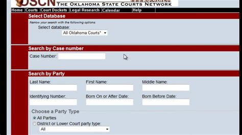 Oklahoma Court Docket Records Free Oklahoma Court Records Search