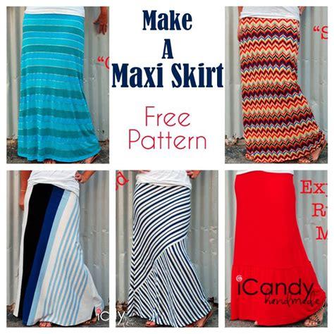 maxi skirt pattern  variations  sewing