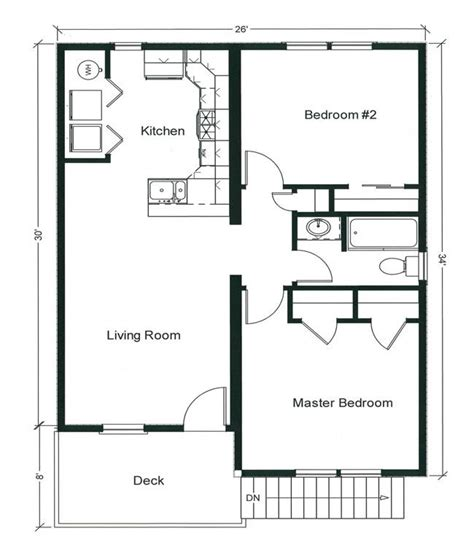 2 bedroom cottage plans 2 bedroom bungalow floor plan plan and two