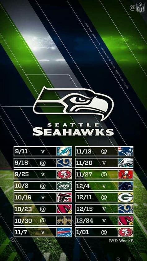 best 25 seahawks schedule ideas on seattle