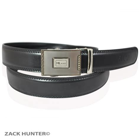 mens real leather black belts by with silver