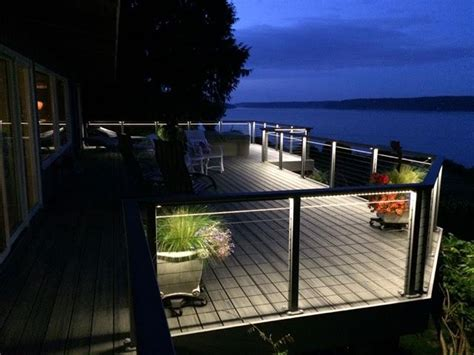 Outdoor Deck Lighting With Hydrolume 174 Elemental Led Outdoor Deck Led Lighting
