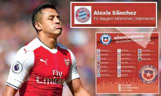 alexis sanchez daily mail arsenal star alexis sanchez listed as bayern munich player