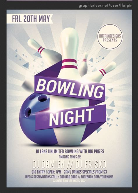 bowling flyer template the gallery for gt bowling flyers
