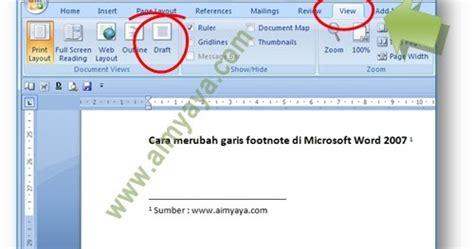 membuat garis tebal di word tips mudah menghilangkan atau merubah garis footnote di