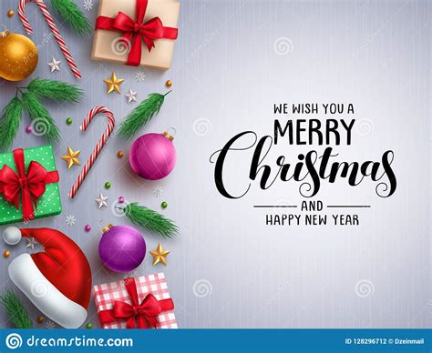 christmas vector background template merry christmas greeting typography stock vector
