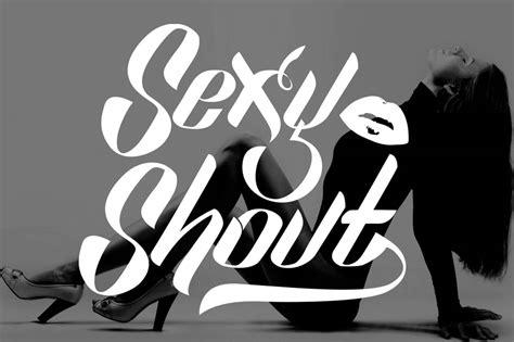 sexy shout font befontscom