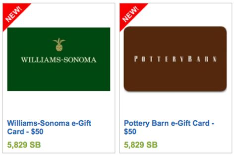 Where To Buy Williams Sonoma Gift Cards - new swagbucks 50 gift cards pottery barn williams sonoma sears more