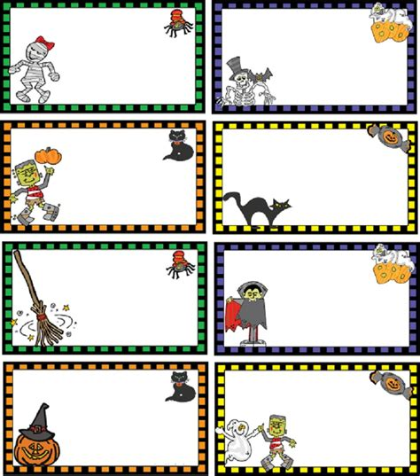 printable halloween tags free printable gift tags template clipart best
