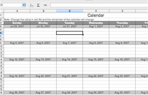 Calendar Template Open Office   Calendar Template 2016