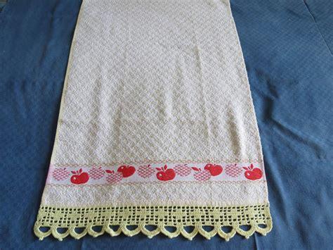 asciugamani da cucina asciugamani da cucina con bordo a uncinetto per la casa