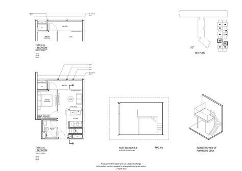 Robertson 100 Floor Plan by 1 Bedroom Up Robertson Quay