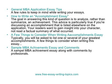 Mba Application Essays Tips tips for mba application essays writing