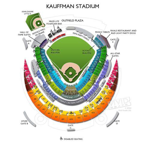 kauffman stadium maps seating charts