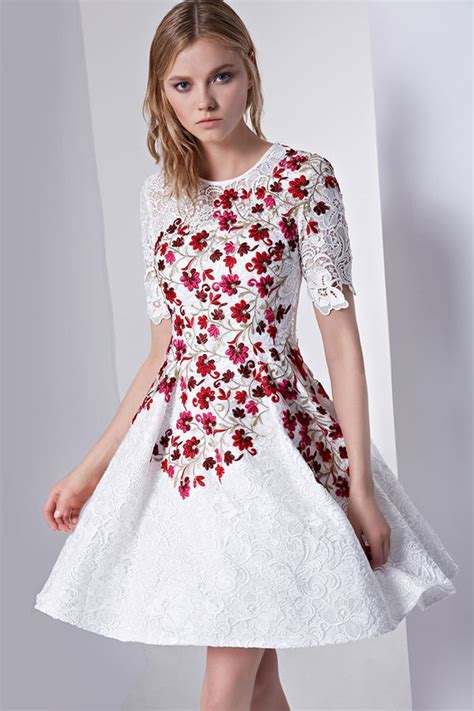 Robe Fleurs Blanches - robe blanche fleur robes populaires mod 232 les 2018
