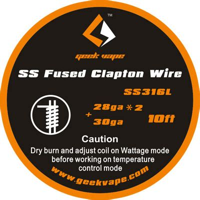 Vape Wire Fused Clapton Ss316l 26 2 30 Ga 10ft Wires Geekvape