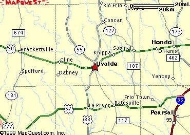 map of uvalde area map city of uvalde