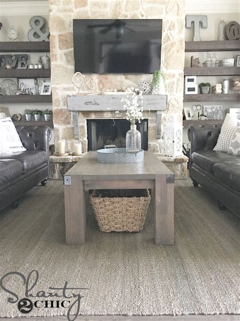 diy farmhouse coffee table modern farmhouse coffee table and how to shanty 2 chic