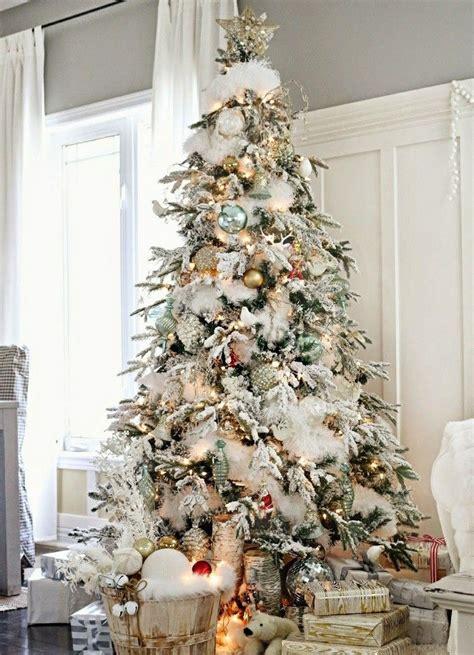 decorar arbol de navidad con nieve arbol de navidad 50 ideas preciosas para decorar