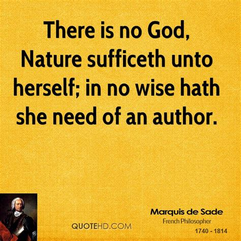 No Need To Herself In The Morning by Marquis De Sade Nature Quotes Quotehd