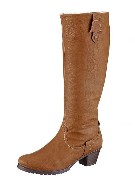 faux leather knee length boots by rieker footwear