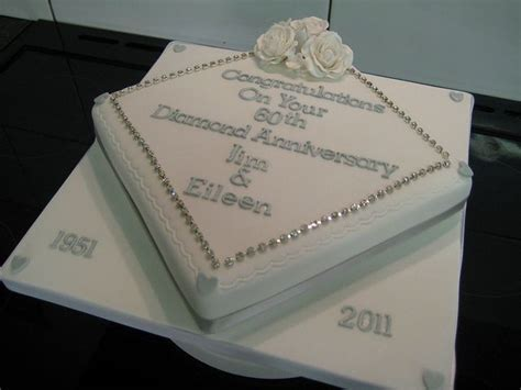 60th anniversary diamond cake   60th wedding anniversary