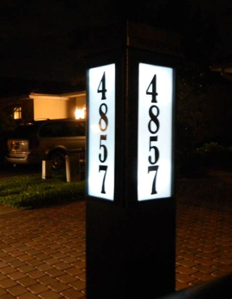 solar address light solar powered mailbox light address sign