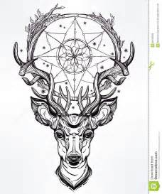 deer head and dream catcher stock vector image 65135086