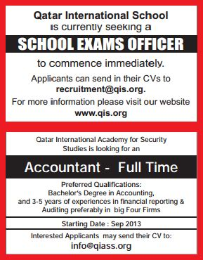 Mba Finance In Qatar by Accountant Qatar School Vacancies Jobhunferfb