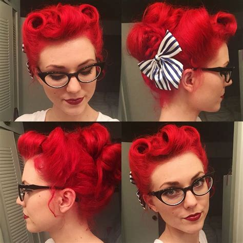 50s swing hairstyles my hair for swing last three victory rolls and all