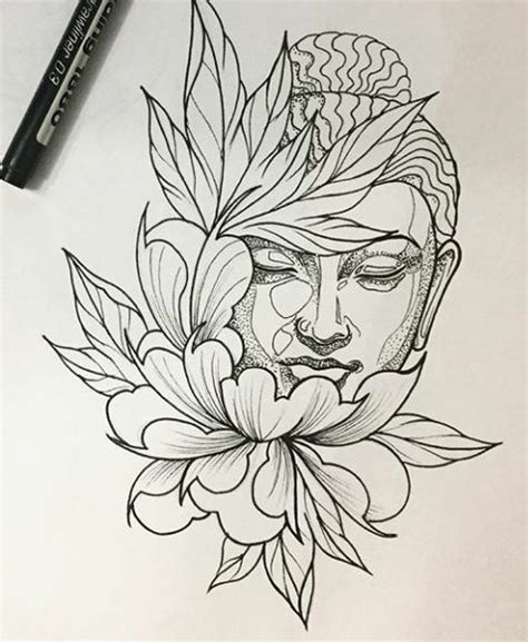 simple buddha tattoo designs buddha drawing clipartxtras