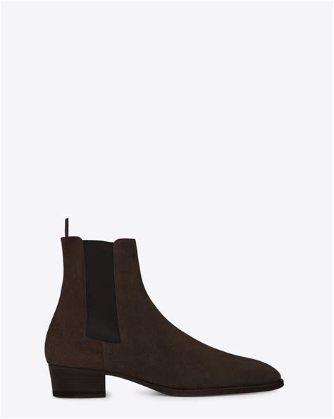 ysl chelsea boots laurent classic wyatt chelsea boot in chocolate