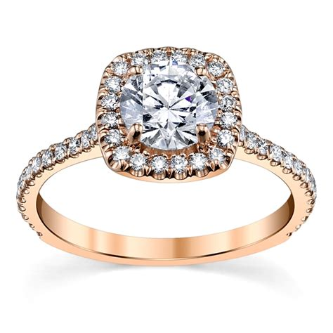 suns and roses 14k rose gold diamond engagement ring